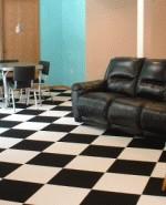 carpet tile on basement floor